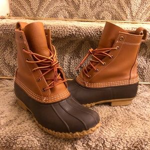 """LL Bean Women's 8"""" Snow Boots in Brown Size 7 M"""